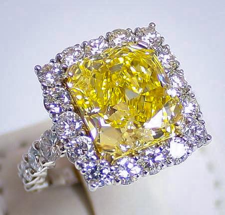 Fancy Yellow Diamond Ring Van Cleef Arpels Earrings