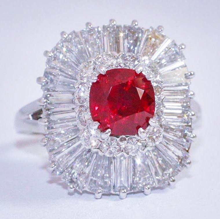 Burma Ruby Diamond Ring Ty Cut